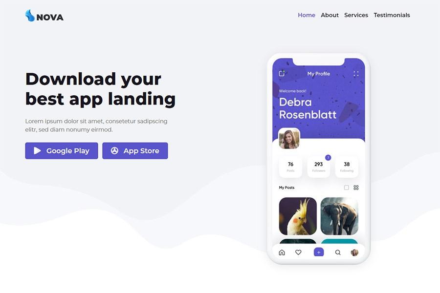 App Landing Page theme