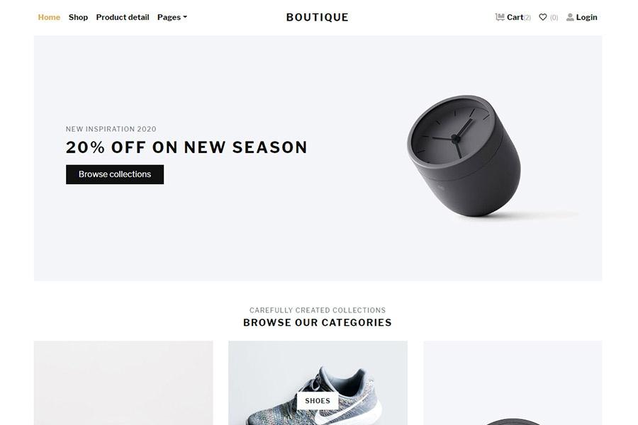 Boutique - Bootstrap E-commerce Theme