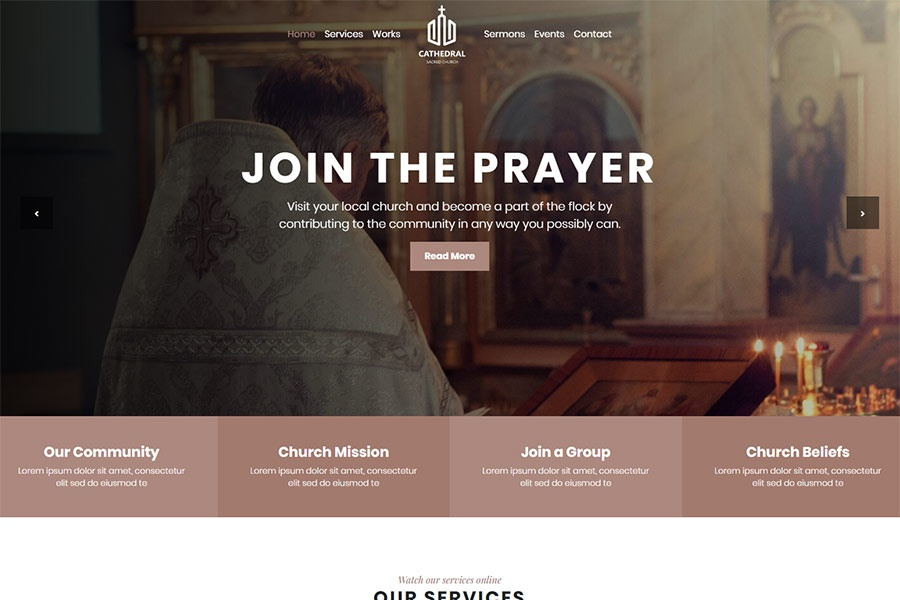 Cathedral - Bootstrap Church & Charity Theme