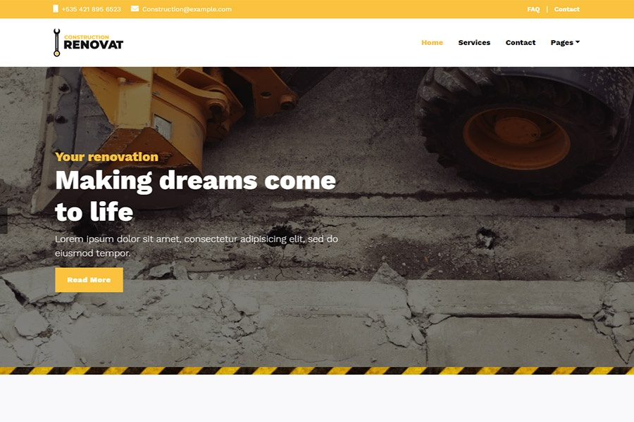 Renovat - Bootstrap Construction Template