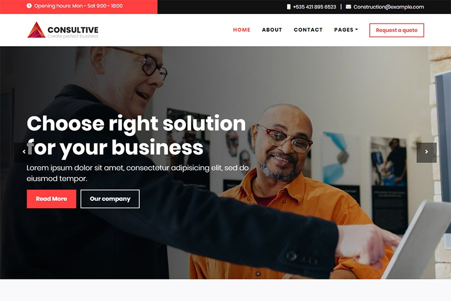 Consulting Bootstrap Template