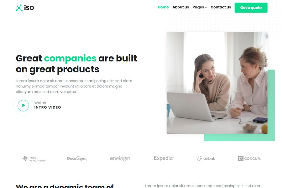 Bootstrap Corporate Theme