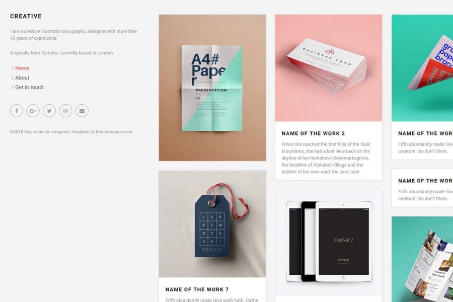 Creative -  Portfolio Template