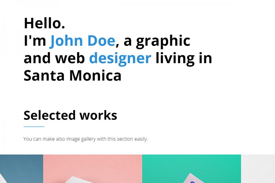 Designer - Portfolio Template