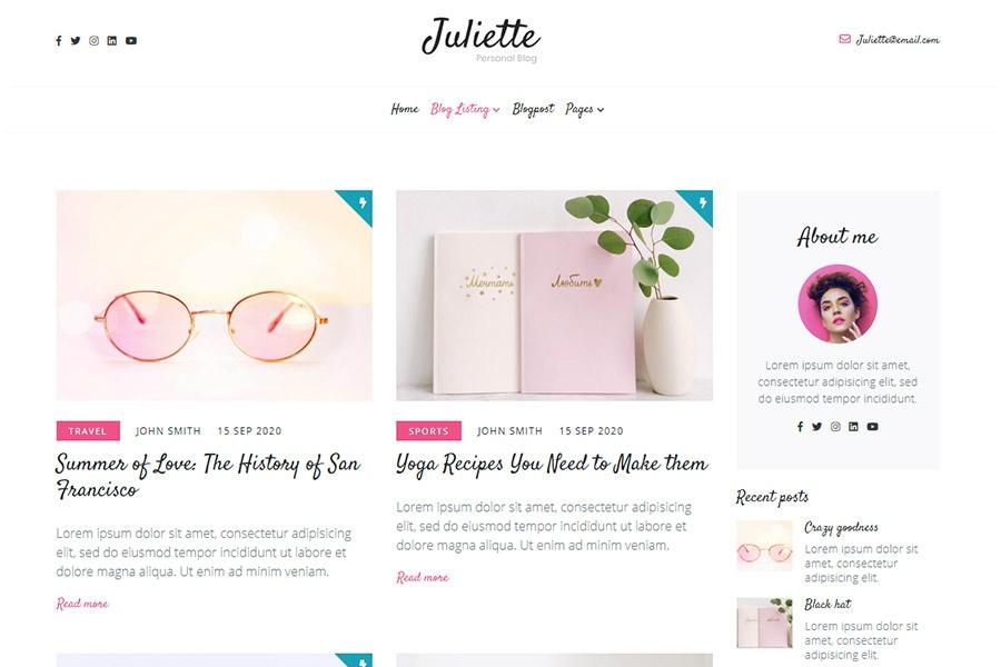 Juliette - Feminine Blog