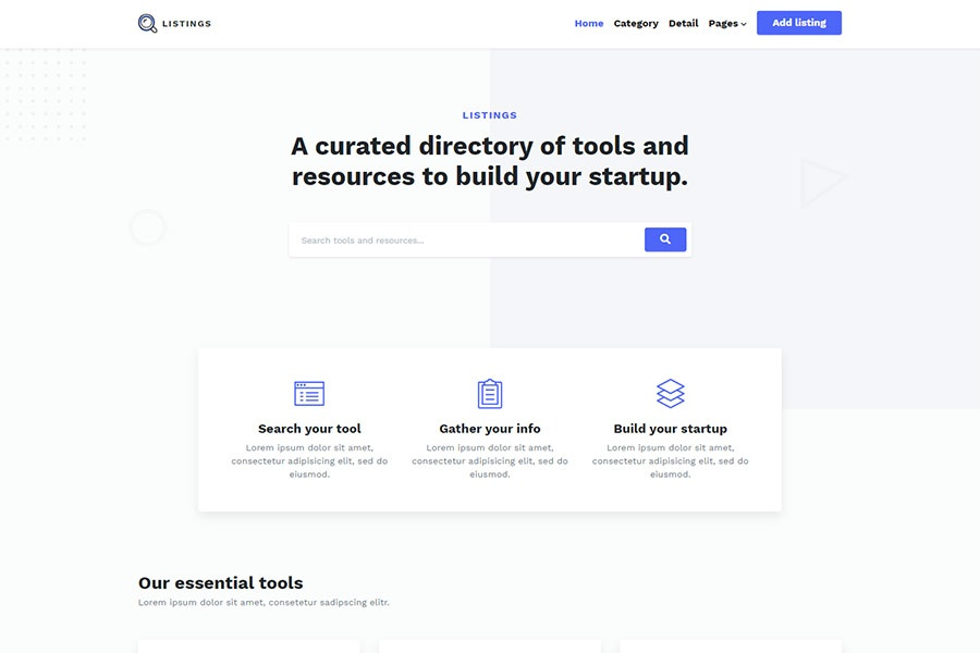 Listings - Bootstrap Directory Theme