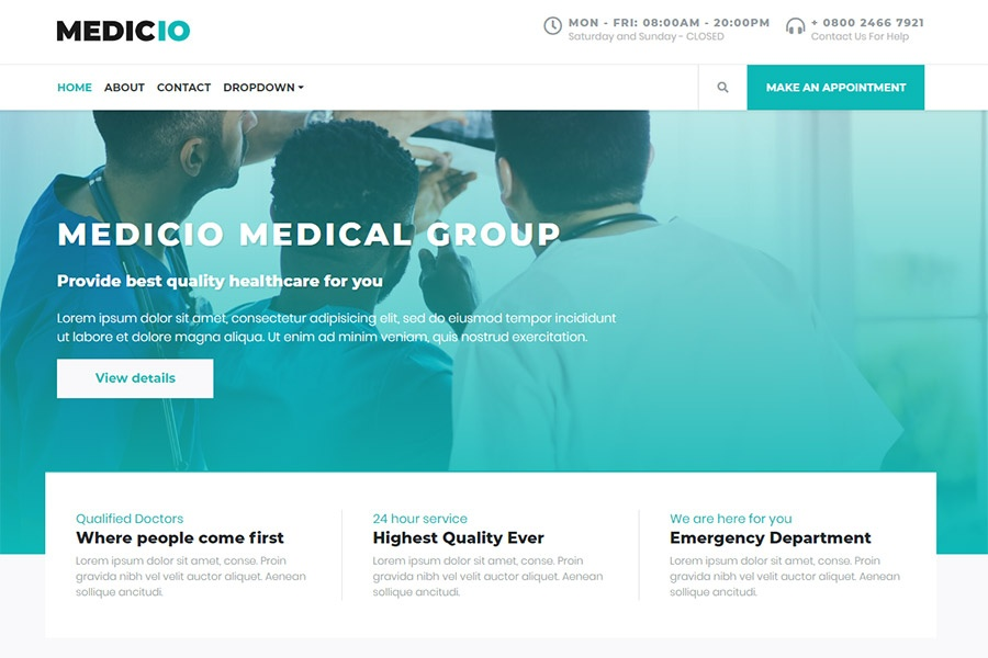 Medicio - Bootstrap Medical Theme