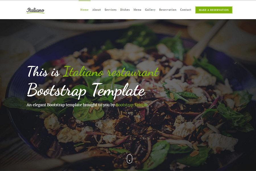 italiano free bootstrap restaurant template elegant classy and