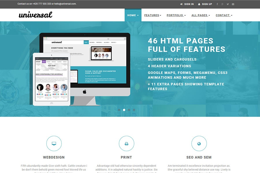 Free bootstrap templates a collection of my 14 original templates universal multipurpose e commerce template cheaphphosting Image collections